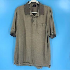 Izod   Green Striped Golf Cool-FX Polo Shirt